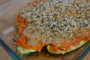calabacines con bechamel vegan
